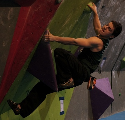 Ciaran Scanlon at the 2014 Junior Irish Bouldering Championship